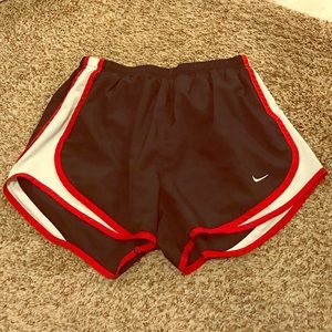 Black and red Nike running shorts size Small